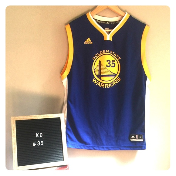 promo code 5e2fc 7fc8a KD Kevin Durant Golden State Warriors Jersey